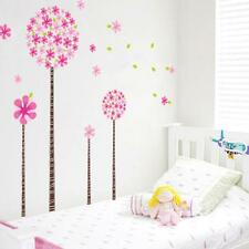 Dandelion Flower Tree Pink Children Decal Romantic  Living Room Wall Decals