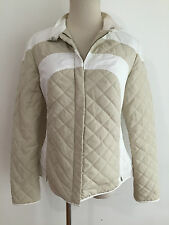 Henry Cotton's Made in Italy Quilted Jacket Beige/Tan & White Size 42