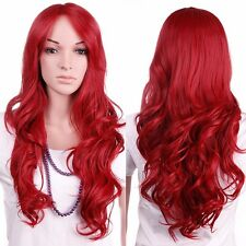 Girls Long Hair Full Wig Real High Quality Curly Straight Synthetic Hair Wigs #H