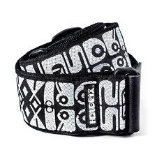 Dunlop JH05 Jimi Hendrix Guitar Strap - Black and White Logo +Picks