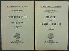 JANSKY - INTRODUCTION AU TURC + ELEMENTS DE LANGUE TURQUE -GRAMMAIRE VOCABULAIRE