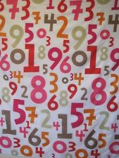 Number fabric shower curtain