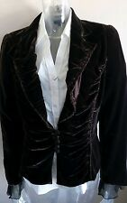 Women's Vintage Style Stills Designer Brown Velvet Jacket UK 14  EUR 42