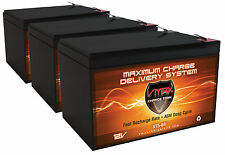 QTY:3 VMAX64 AGM 12V 15Ah AGM SLA Deep Cycle Scooter Battery for Razor MX500.