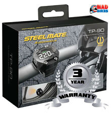 Steelmate TP90 Pro (TPMS) Tyre Pressure monitoring System. Motorcycle Motorbike