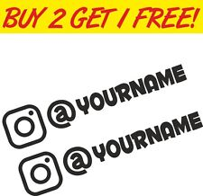2 x Instagram Username Graphic Vinyl Decal Sticker EURO JDB DUB VW Funny