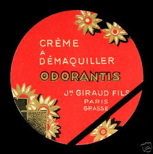 Vintage Perfume Soap Label French Art Deco Odorantis J. Giraud Fils Grasse Paris
