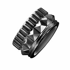 WATERFORD REBEL GRACIE DESIGNER GUNMETAL BAND RING SMALL L / 5.5 BOXED PUNK