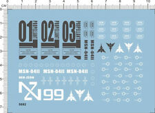 Detail Up MG 1/100 Scale NG MSN-04ii Nightingale Gundam Model Water Slide Decal