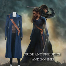Pretty COOL Trench COS Pride and Prejudice and Zombies Elizabeth Bennet Cosplay