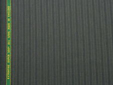 SUPER 100s ALL WOOL AIRFORCE STRIPED SUITING FABRIC 3.5M - MADE IN ENGLAND