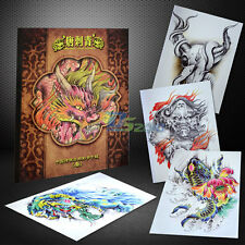 China Style Tattoo Flash Book Tang Tranditinal Art Typical Sketch Design A4 Size