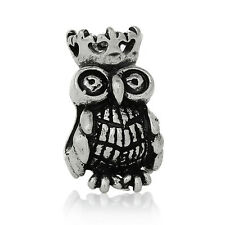 Owl with a Crown Bird Halloween Spacer Bead for Silver European Charm Bracelets