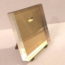 MCM Lucite and Brass Easel Picture Frame Attributed to Karl Springer
