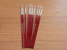 MODELLNG FINE PAINT BRUSH BRUSHES  SIZE 2 PURE SABLE MODEL pack of 10