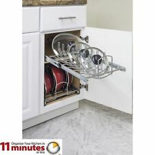 "Hardware Resources Pots and Pan Lid Organizer for 15"" Base Cabinet MPLO15-R"