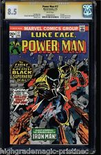 POWER MAN #17 CGC 8.5 WHITE SS STAN LEE SIGNED LUKE CAGE CGC #1206545012