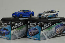 1999 + 2002 Brians NISSAN SKYLINE GT-R FAST & AND FURIOUS Set 1:43 Greenlight