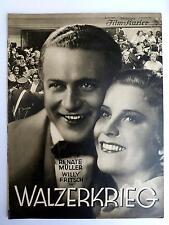 BFK #2027 - WILLY FRITSCH - WALZERKRIEG - Filmprogramm 1933