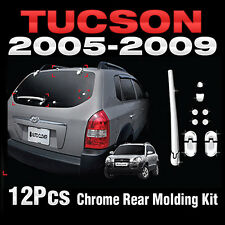 Chrome Rear Molding Kit Garnish Cover B728 For HYUNDAI 2005-2008 2009 Tucson