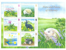 Alderney-Flora-fauna Min sheet -May Ist 2015 issue mnh