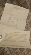 1936 Delaware Place Apartment Building Stock Holders Letters Chicago Illinois
