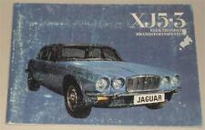 Instructieboekje / Handleiding Jaguar XJ 12 5.3 litre Serie II von 1974