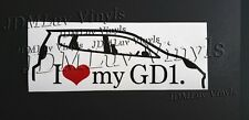 I love my GD1 Honda Fit Sticker decal 06-08 JDM jazz