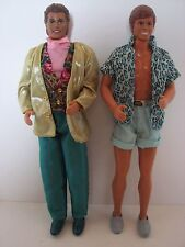 Vintage Ken Dolls 1983 & 1990 Complete with Clothing Beach & Disco Attire