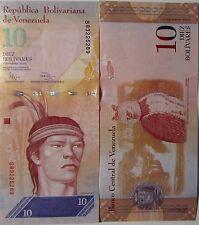 """BILLETE """"  VENEZUELA   """"  10 BOLIVARES    AÑO : 2011   UNC    PLANCHA"""