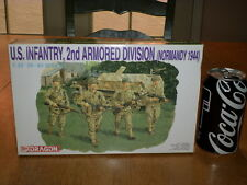 WW#2, U.S. INFANTRY, 2nd ARMORED DIVISION NORMANDY 1944, Plastic Model Kit, 1/35