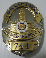 Obsolete Los Angeles Police Pete Malloy Movie & TV Prop Badge Made in U.S.A.