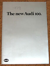 The New AUDI 100 Launch Brochure 1979:  L-5S, GL-5S, GL-5E, CD-5E