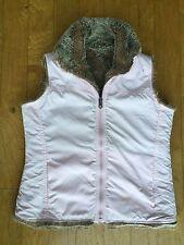 GAP Pink/ Faux Fur REVERSIBLE Vest  Girl's Size 12