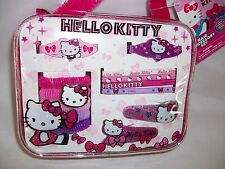 Sanrio Hello Kitty Hair Accessory Set Clips Barrettes Ties Bands Pink Purple
