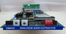 SNELL & WILCOX IQBAAX 4-CHANNEL ANALOG AUDIO DE-EMBEDDER CARD WITH REAR MODULE**
