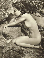 1950s Vintage Nude Asian Chinese Malaya Girl Martin Jackson Photo Gravure Print