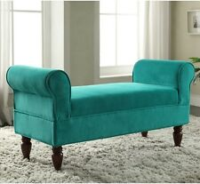 Modern Bench Seat Bedroom Entryway Upholstered Window Foyer Backless Love Sofa
