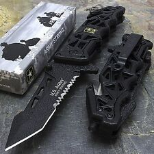 "9"" US ARMY LICENSED ""LIBERATOR"" SPRING ASSISTED TACTICAL FOLDING KNIFE Blade"