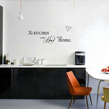 Black Kitchen +Home Quote Wall Sticker PVC Mural Removable Art DIY Decal Decor