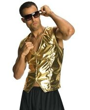 80s Rappers MC Hammer Vanilla Ice Gold Vest Costume - Fast Ship - 1980s 80's
