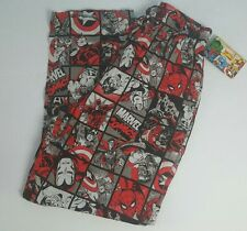 MARVEL COMICS Men's Lounge Pants Sleep Pajamas Spiderman Hulk Captain America  M