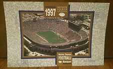 """Notre Dame Football 1997 78th Annual Banquet  2-sided Poster 11""""x17"""" New Stadium"""