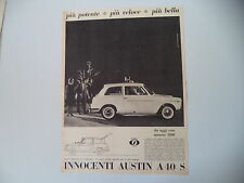 advertising Pubblicità 1963 INNOCENTI AUSTIN A40 A 40 S