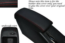 RED STITCH LEATHER ARMREST SKIN COVER FITS TOYOTA COROLLA LEVIN GT-Z AE101