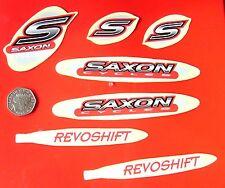 SAXON REVOSHIFT MTB Bicicletta Decalcomanie 7 PZ SET-ROSSO N GRIGIO (T5) - FREEPOST in tutto il mondo