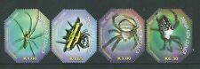 PAPUA NEW GUINEA 2010 SPIDERS SET OF 4 UNMOUNTED MINT,MNH