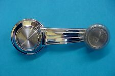 New GM Chrome Manual Door Window Crank Handle Roller Clear Knob Fits Olds NOS