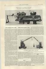1922 Mobile Electric Battery Crane Wilson Birkenhead Herbert Hexagon Turret