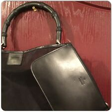 Gucci Transparent mesh bamboo Shoulder Bag With Pouch Leather Trim very Rare